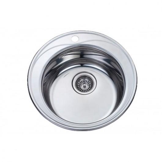 Врізна кругла мийка без сушки 510 полірована