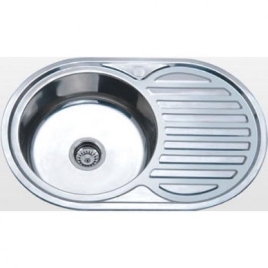 Врізна овальна мийка із сушкою К 7750 матова