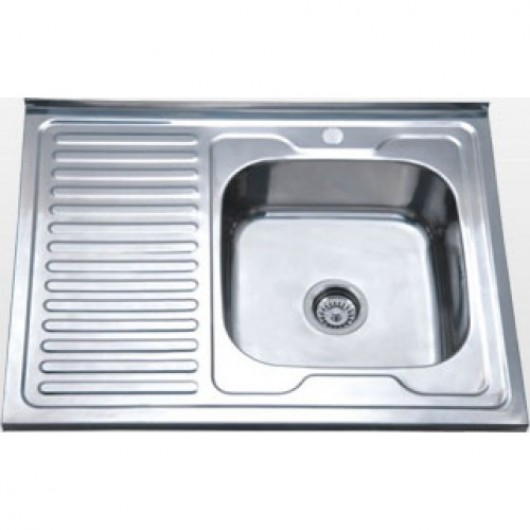Накладна мийка з крилом 6080 L/R