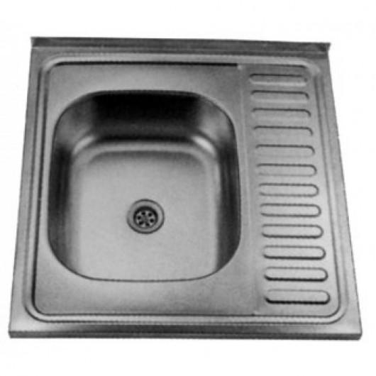 Накладна мийка з крилом 6060 R/L