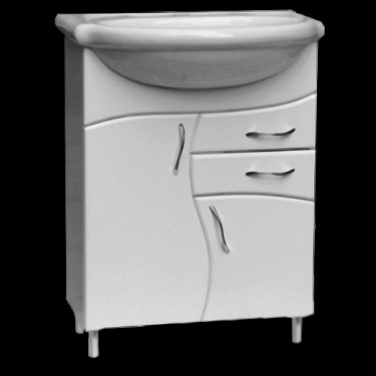 Тумба з умивальником для ванної серії Хвилька T7