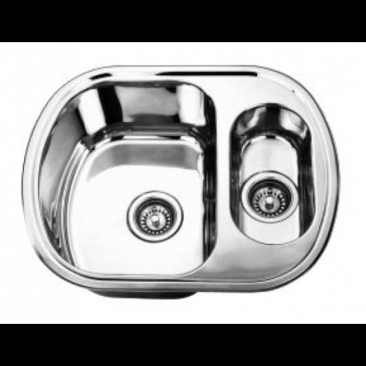 Врізна прямокутна мийка з додатковою чашою 6049 L