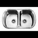 Врізна прямокутна подвійна мийка 7749