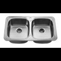 Врізна прямокутна подвійна мийка 401