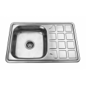 Врізна прямокутна мийка з крилом К 7848